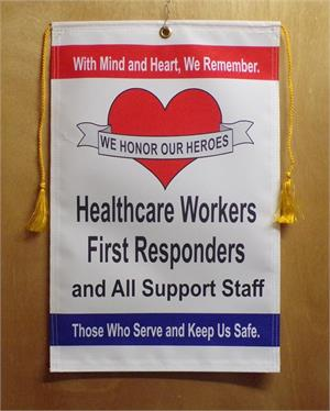 Corona VirusCorona Virus Healthcare and First Responders Service Banner.
