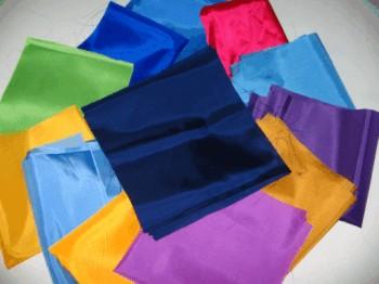 colorfu solid color nylon 200 denier fabric squares and