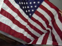 nylon sewn stripes US flag
